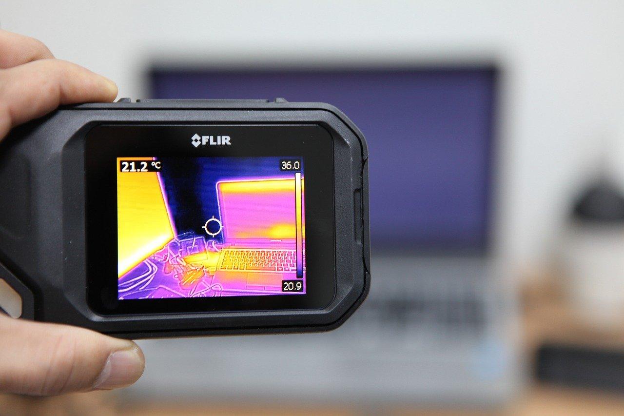 caméra thermique fuite d'eau